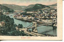 006006  Tetschen A./ Elbe - Teilansicht Mit Brücke - Böhmen Und Mähren