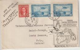 Canada 1er Vol Montréal Botwood Terre Neuve 1939 - Covers & Documents