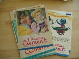 Lot De 10 Rouen Biscotte Biscottes Clement Conte Dicton Illustrateur Dagobert Buvard Buvards - Biscottes