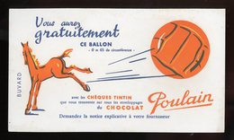 BUVARD:  CHOCOLAT POULAIN - FORMAT  Env. 12,5X21,5 Cm - Cocoa & Chocolat