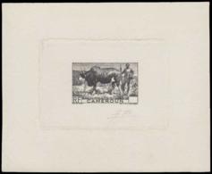 CAMEROUN Epreuves  276 Epreuve D'artiste En Noir Sans Faciale, Signée: Zébu. - Cameroun (1915-1959)