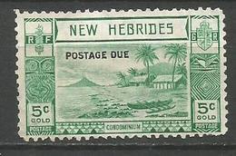 NUEVA HEBRIDES TAXE IMPUESTOS YVERT NUM. 16 USADO - Postage Due
