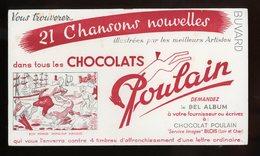 BUVARD:  CHOCOLAT POULAIN - FORMAT  Env. 12,5X21,5 Cm - Chocolat