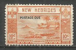 NUEVA HEBRIDES TAXE IMPUESTOS YVERT NUM. 17 USADO - Postage Due