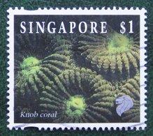 $1 Coral & Reef Marine Life Definitives KNOB CORAL 1994 Mi 720 Used Gebruikt Oblitere SINGAPORE SINGAPUR - Singapur (1959-...)