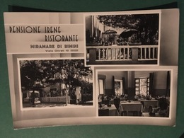Cartolina Pensione Irene - Ristorante - Miramare Di Rimini - 1951 - Rimini