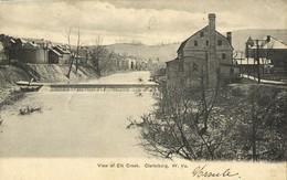 Clarksburg, W.Va., View Of Elk Creek (1906) Postcard - Clarksburg