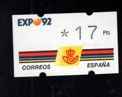 718488556 SPAIN 1992 AUTOMAATZEGELS MICHEL NR 2 - Espagne