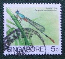 5 C Insects Insekt DAMSELFLY 1985 Mi 463 Used Gebruikt Oblitere SINGAPORE SINGAPUR - Singapur (1959-...)