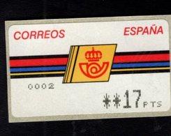 718489381 SPAIN 1992 AUTOMAATZEGELS MICHEL NR 4.2.2.1. - Espagne