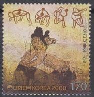 South Korea KPCC1553 Millennium, Koguryo Dynasty, Korean Traditional Wrestling, Millénaire, Lutte - Lutte