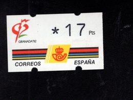 718490119 SPAIN 1992 AUTOMAATZEGELS MICHEL NR 3.1. - Espagne