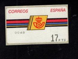 718490821 SPAIN 1992 AUTOMAATZEGELS MICHEL NR 4.3.1. - Espagne