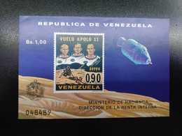 W) 1977 VENEZUELA, FLIGHT APOLLO 11, EXPLORADORES ESPACIO A COLOR, MNH - Venezuela
