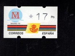 718491751 SPAIN 1992 AUTOMAATZEGELS MICHEL NR 6.1.E - Espagne