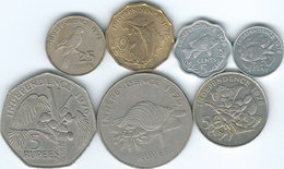 Seychelles - Independence - 1976 - 1, 5, 10, 25 & 50 Cents; 1 & 5 Rupees (KMs 21-27) - Seychelles