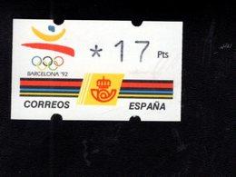 718493812 SPAIN 1992 AUTOMAATZEGELS MICHEL NR 5.1 - Espagne