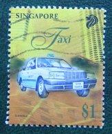 $1 Transport TAXI Auto Car Vehicle 1997 Mi 841 Used Gebruikt Oblitere SINGAPORE SINGAPUR - Singapur (1959-...)
