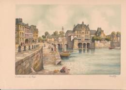 Gravure BARDAY - LANDERNEAU - Le Port - - Estampes & Gravures