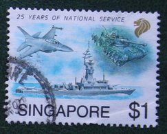 $1 National Services Northrop 1992 Mi 664 Used Gebruikt Oblitere SINGAPORE SINGAPUR - Singapur (1959-...)