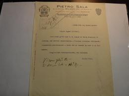 MILANO   ---  BACHI - SETA ---    PIETRO SALA   ---   STABILIMENTO  BACOLOGICO - Italia