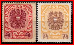 AUSTRIA (ÖSTERREICH) SELLOS AÑO 1920-21 ARMS - 1918-1945 1. Republik