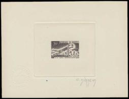 DAHOMEY Epreuves  197 Epreuve D'artiste En Noir, Signée: Football. - Dahomey (1899-1944)