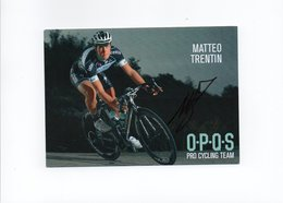 CYCLISME TOUR  DE  FRANCE  Autographe  MATTEO TRENTIN - Cyclisme