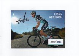 CYCLISME TOUR  DE  FRANCE  Autographe  LUKASZ WISNIOWSKI - Cyclisme