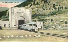 Colorado, Moffat Tunnel With Train (1940s) Postcard - Other