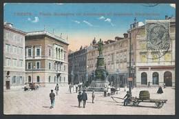 +++ CPA - Italie - Italia - TRIESTE - PIAZZA Giuseppina Col Monumento All'Imperator Massimiliano   // - Trieste