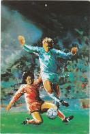 D840 COLLECTION SPORTS, LOISIRS, VOYAGES. FOOTBALL - REPRESENTATION D'UN TACLE EN PLEIN MATCH - Soccer