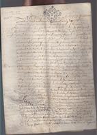 Bretagne - Déc 1741 - Dinan Parchemin - Pierre  Fossesparoisse De Tressaint Et Guillaume Cordon Du Portail, Lanvallay - Cachets Généralité