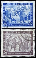Allemagne LEIPZIGER MESSE 2 Valeurs Oblitérés 1948 - American,British And Russian Zone
