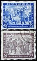 Allemagne LEIPZIGER MESSE 2 Valeurs Oblitérés 1948 - Zone AAS