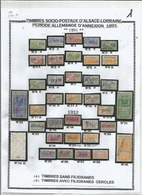 COLLECTION TIMBRES SOCIO - POSTAUX D'ALSACE - LORRAINE ENTRE 1891  ET  1940 - Revenue Stamps
