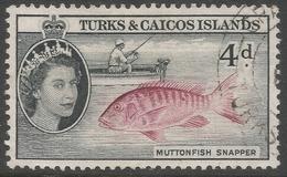 Turks & Caicos Islands. 1957-62 QEII. 4d Used. SG 242 - Turks And Caicos