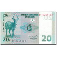 Billet, Congo Democratic Republic, 20 Centimes, 1997-11-01, KM:83a, NEUF - Republic Of Congo (Congo-Brazzaville)