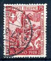 1928 REGNO N.234 USATO - 1900-44 Vittorio Emanuele III