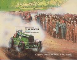 MALDIVES : BLOCS/FEUILLETS GRAND PRIX SUNBEAM 1924 - Automovilismo