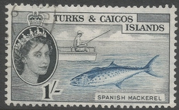 Turks & Caicos Islands. 1957-62 QEII. 1/- Used. SG 246 - Turks And Caicos