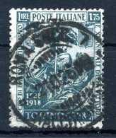 1928 REGNO N.236 USATO - 1900-44 Vittorio Emanuele III