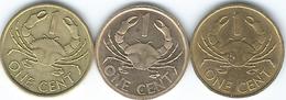 Seychelles - 1 Cent - 1982 (KM46.1) 2004 (KM46.2) & 2012 (KM46a) - Seychelles