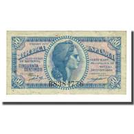 Billet, Espagne, 50 Centimos, 1937, KM:93, TTB - [ 3] 1936-1975 : Régence De Franco