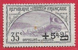 France N°166 Orphelins 35c+5c 1922 (*) - Neufs