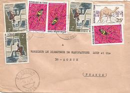 Tchad 1975 Baibokoum Dromedary Camel Banded-legged Golden Orb-web Spider Nephila Senegalensis Insect Cover - Tsjaad (1960-...)