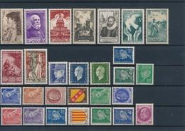 FRANCE - LOT DE 28 TIMBRES NEUFS** SANS CHARNIERE - COTE YT : 10€50 - 1938/55 - France