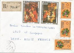 Tchad 1978 Baibokoum Painting Pieter Paul Rubens Flower Registered Cover - Tsjaad (1960-...)