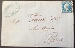 A48 Ambulant PQ Verso Paris à Quievrain «C » 13/9/1866 « Arnold Baruchson Douai  » T22 - Marcophilie (Lettres)
