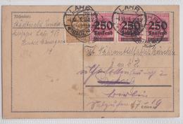 LAHR / SCHWARZALD BADEN POSTKARTE 4.10.1923 - Allemagne